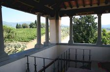 View of the Chianti countryside from our belvedere